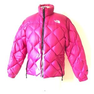 Vintage PINK 90s NORTH FACE Down Puffer Jacket